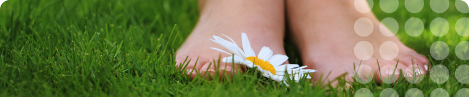 Image of Feet on Grass